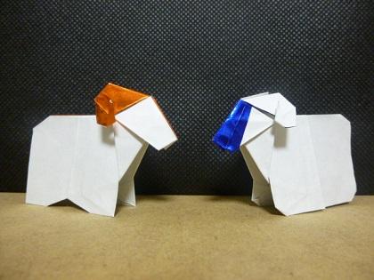 折り紙の:折り紙 羊 簡単-kyouryuuorigami.blog.fc2.com