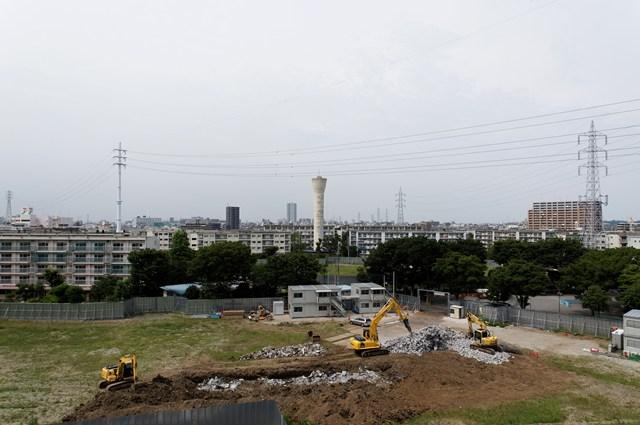 建替え中の東京都営高砂アパート