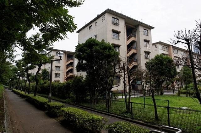 都営辰巳一丁目アパート1のボックス型住棟