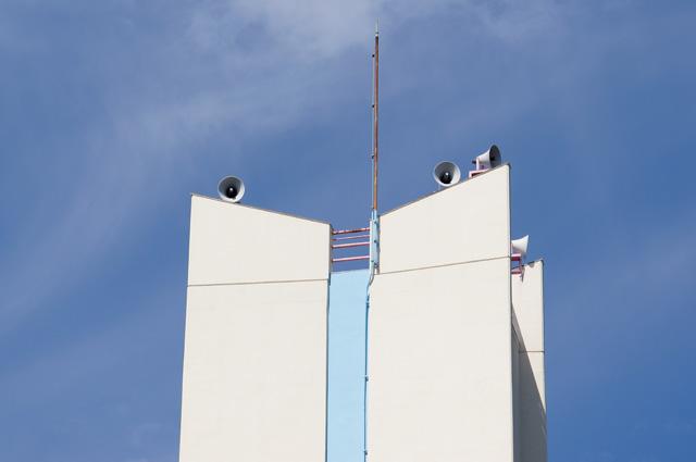 公団寝屋川団地給水塔の頭頂部