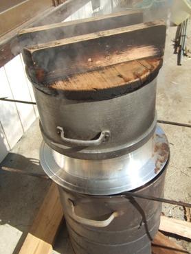 20130124羽釜蒸米