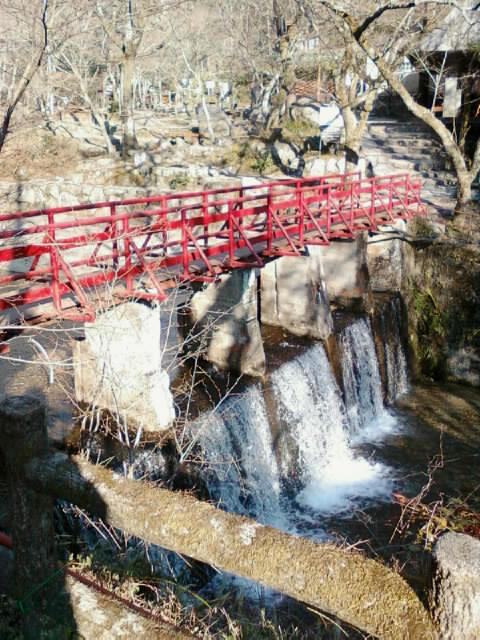 赤い橋直線