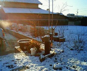 積雪による我が家の変化 8