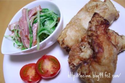 塩漬け鶏胸肉の唐揚げ
