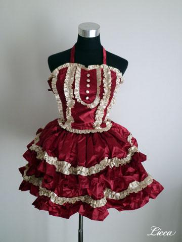 ロリィタ系ギャザースカート&ビスチェ1