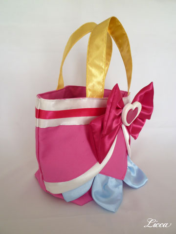 ドキドキプリキュアキュアハート衣装風バッグ3