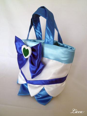 ハートキャッチプリキュアキュアマリン衣装風バッグ3