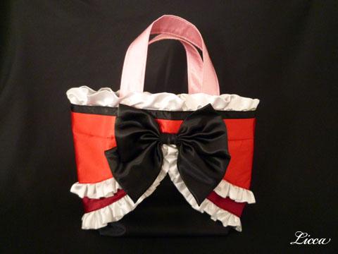フレッシュプリキュアキュアパッション衣装風バッグ3