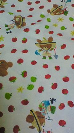 ジャッキー柄の布