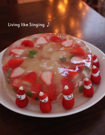 クリスマスゼリーケーキ