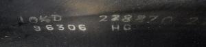 初期RI黒⑦-0文字