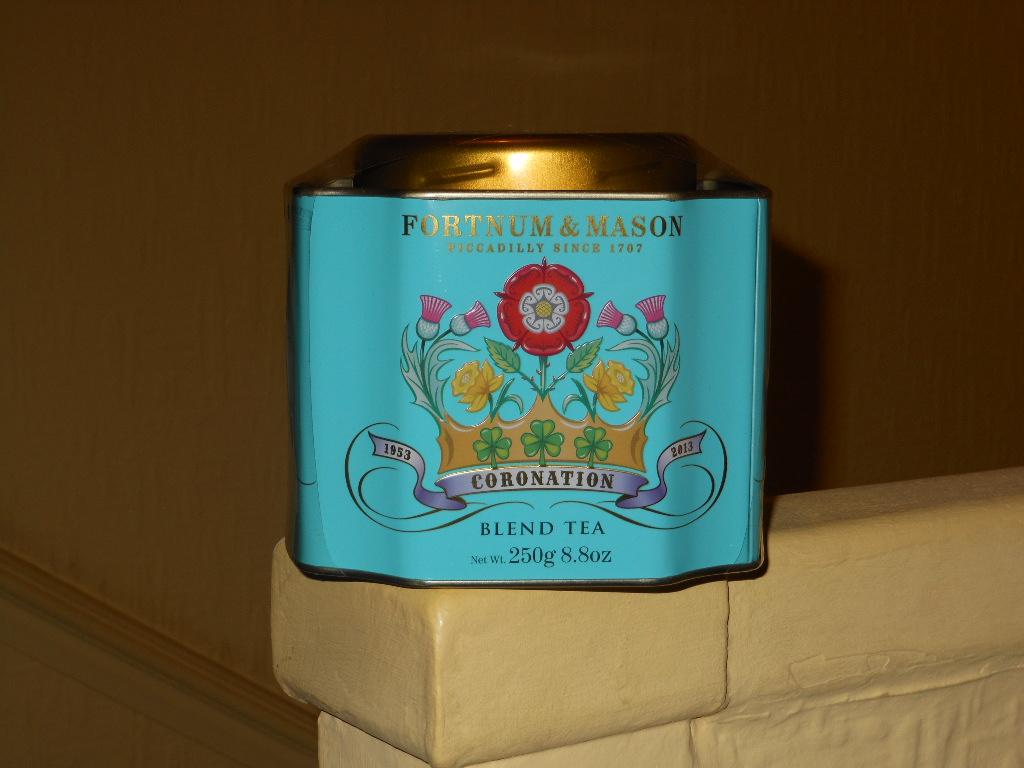 Coronation tea tin from F&M