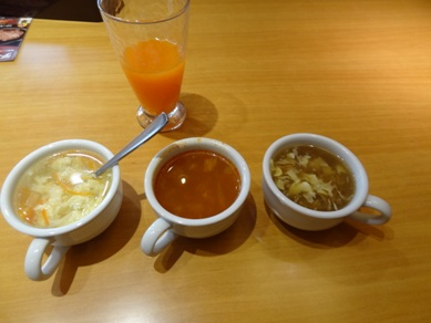 スープと野菜ジュース