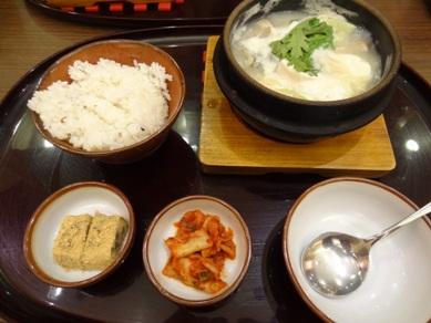 スンドゥブチゲ(白)とご飯セット