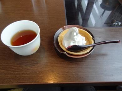 ミニソフトとお茶