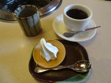 ミニソフトクリームとコーヒーとお茶