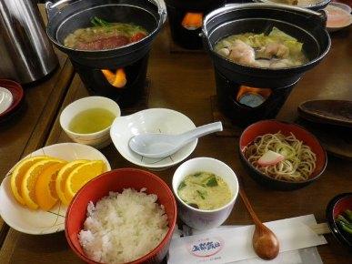 山都飯田で昼食