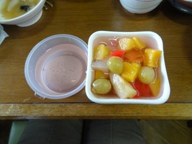 昼食のデザート
