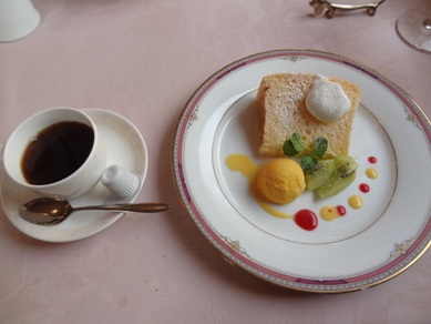 デザートとコーヒー