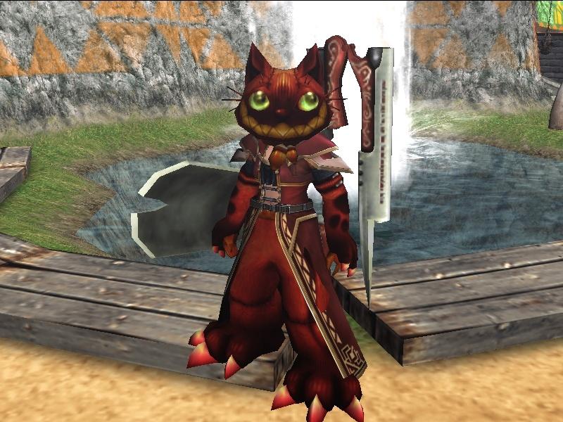 赤ネコ装備
