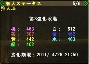 狩人珠状況20110410