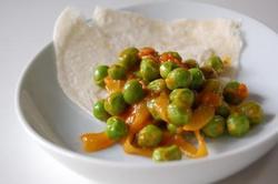 w えんどう豆のマサラ