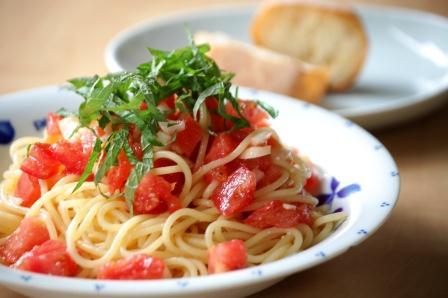 トマトの冷たいパスタ2011 w