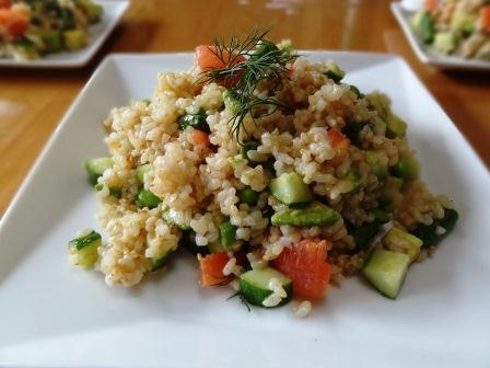 玄米サラダw
