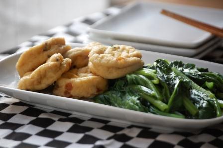 小松菜とがんもどきのさっと煮w