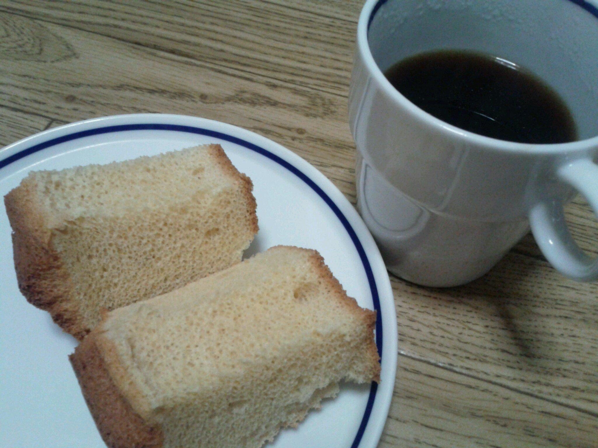 きなこシフォンとコーヒー