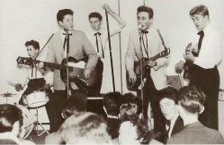 The Quarrymen performing at the New Clubmoor Hall in Liverpool. 23 November 1957