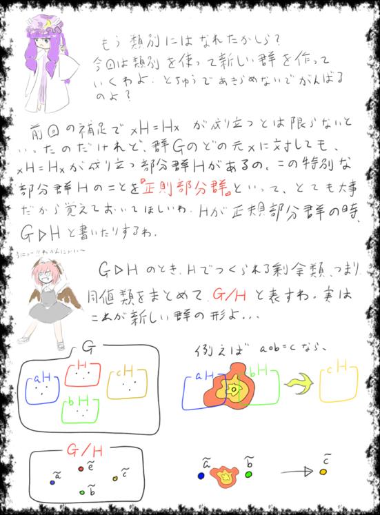 数学講座(正規部分群)