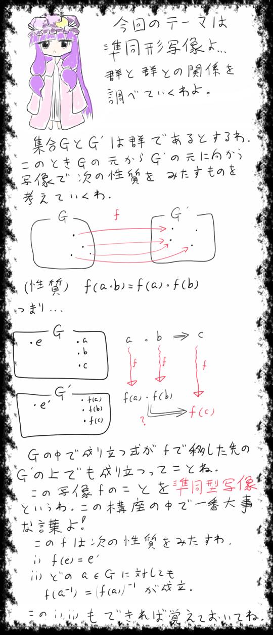 数学講座(準同系写像)