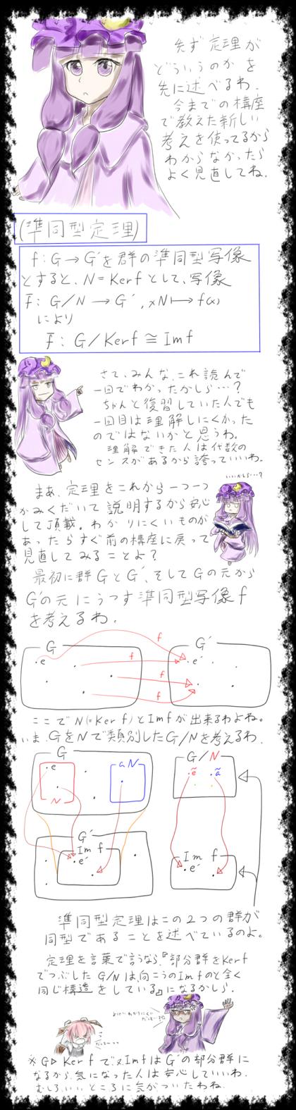 数学講座(準同型定理)