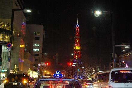 Xmasのテレビ塔。