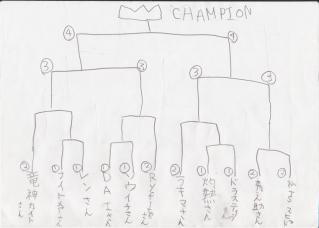 第1回ポケモンTSマヒャド杯トーナメント表(真)