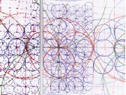 結晶化したフォノグラム 拡大 中心
