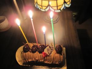 モモ 誕生ケーキ