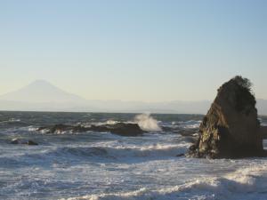 ドンの前の海