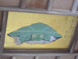 奥津宮 天井の亀