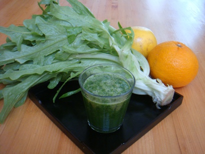 試作(1)柑橘類とイタリアンレタスのスムージー
