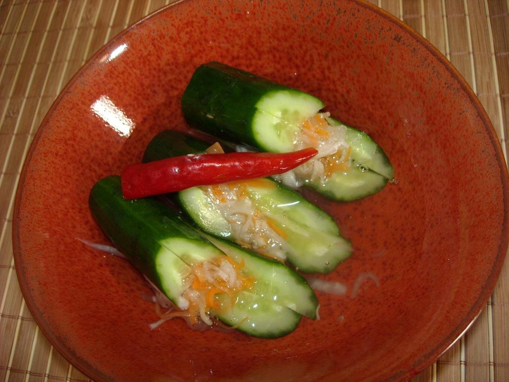 きゅうり赤皿