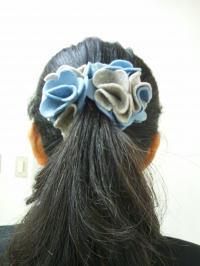 髪飾りブルー良っちゃん1