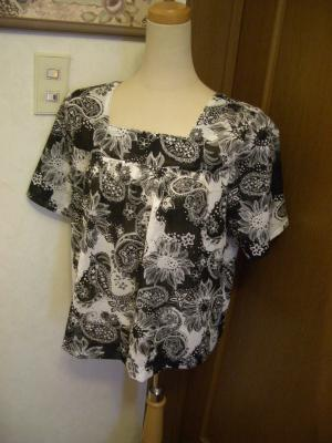 母の半袖ブラウス2011夏