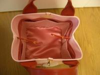 ピンクキューブ型バッグ完成3
