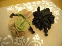 髪飾りグリーン香ちゃん1