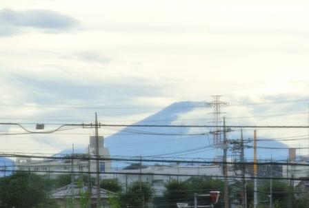 台風一過富士山