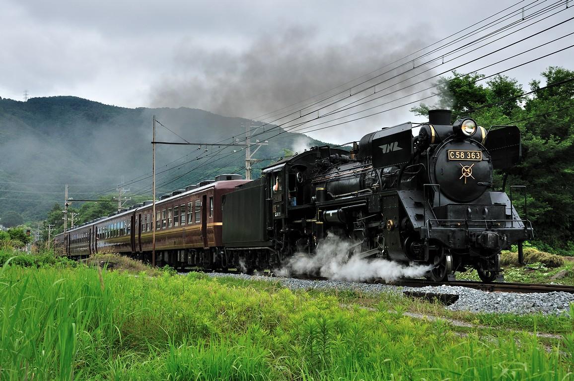 2013.06.16 1120_30(2) 樋口~野上 5001レ C58 363s