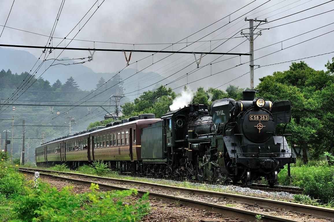 2013.06.30 1441_08(3) 浦山口~影森 5002レ C58 363s