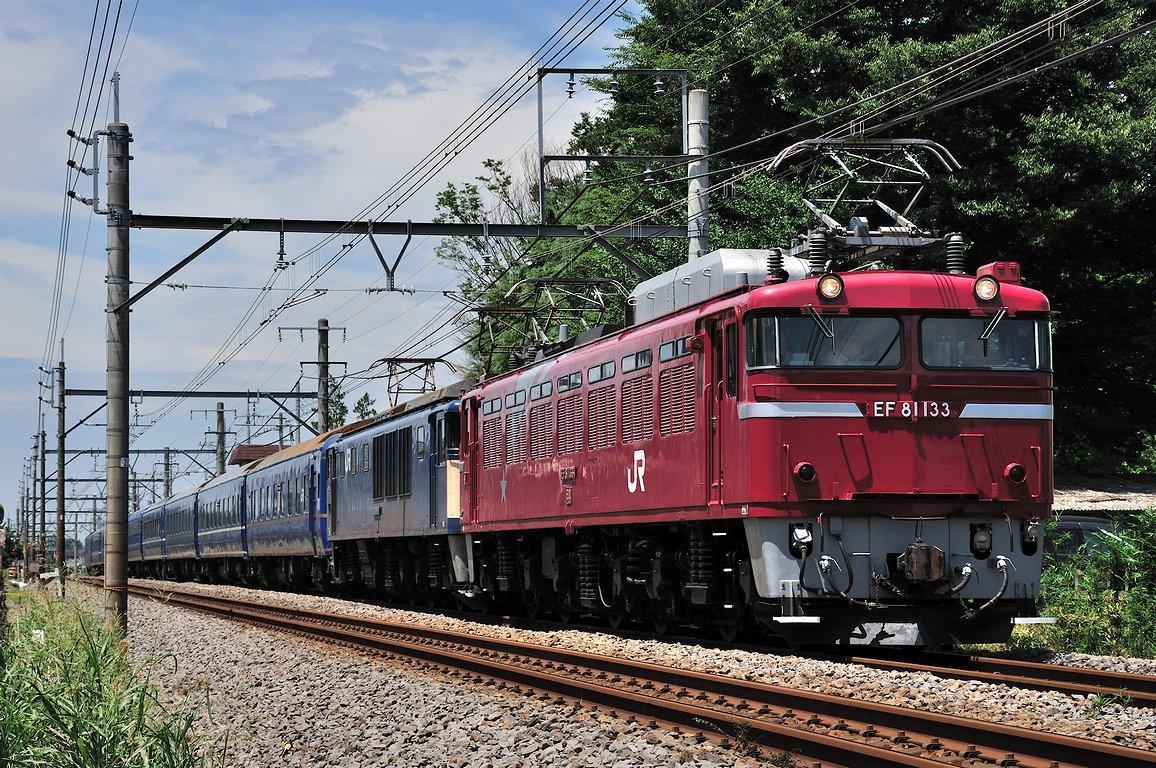 2013.07.28 1215_46(1) 鴻巣~北本 「あけぼの」 2022レ EF81 133+EF64 1051+24系s